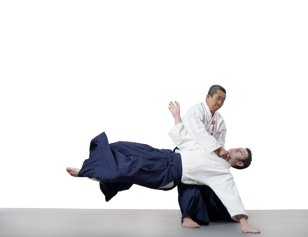 Kawabe Shihan executing a technique on Landow Sensei.
